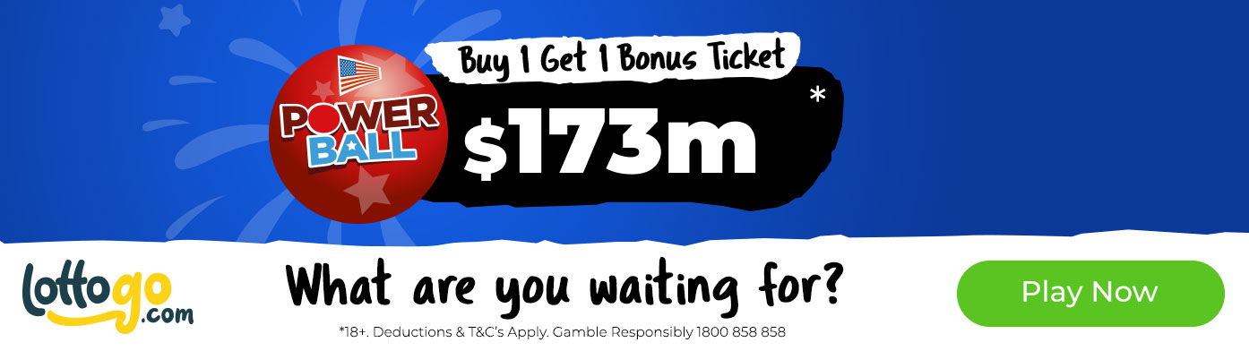 US Powerball Buy 1 Ticket Get 1 Bonus Ticket