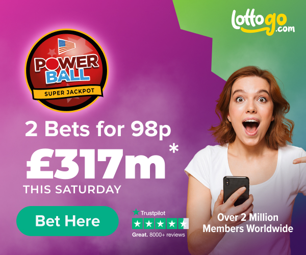 Get Two Bets For 98p on the US Powerball