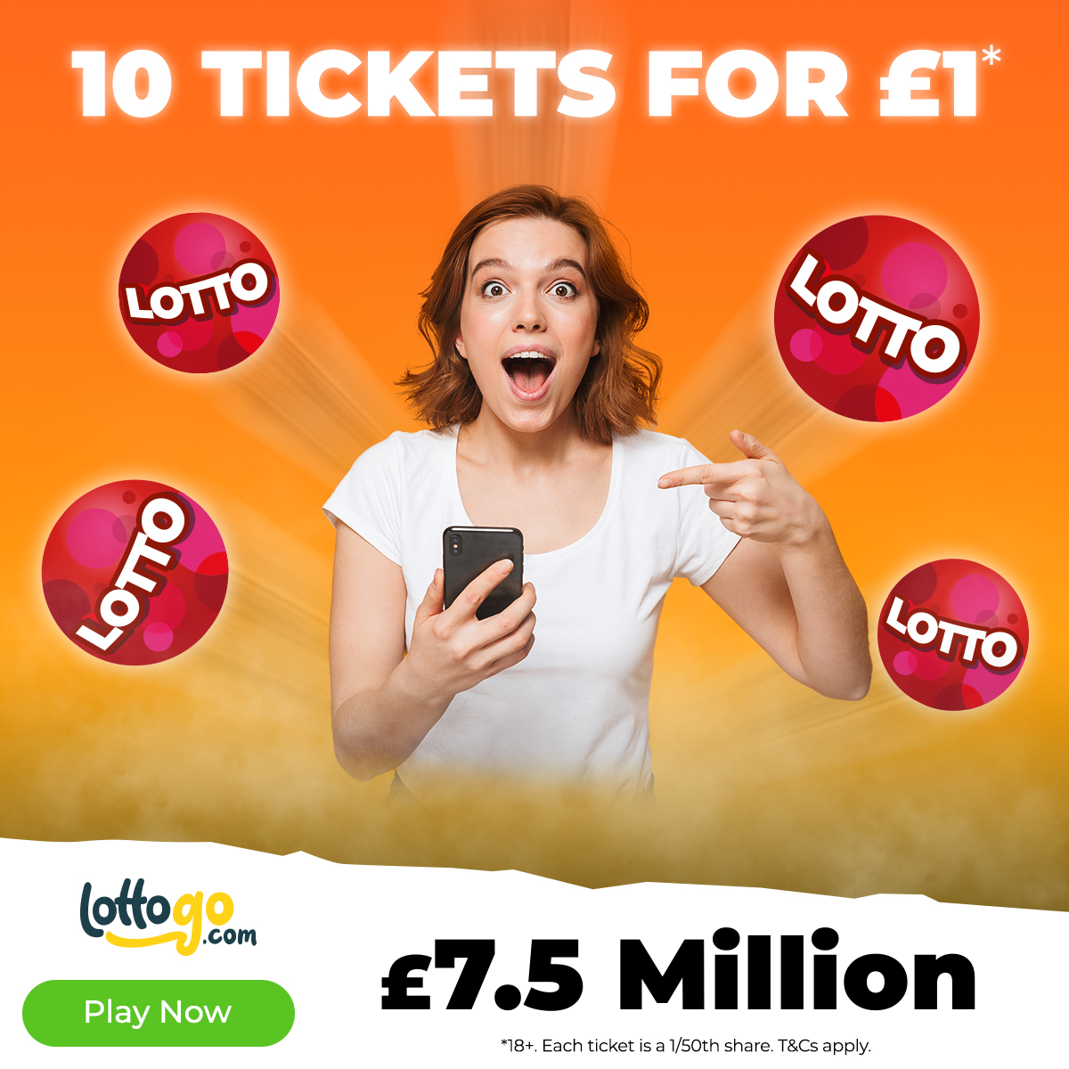 Lotto 10 Tickets for £1* - Play Now