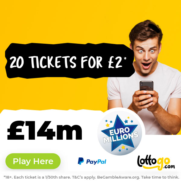EuroMillions 20 Tickets for £2* - Play Now