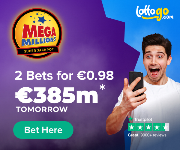 US MegaMillions Two Bets For €0.98