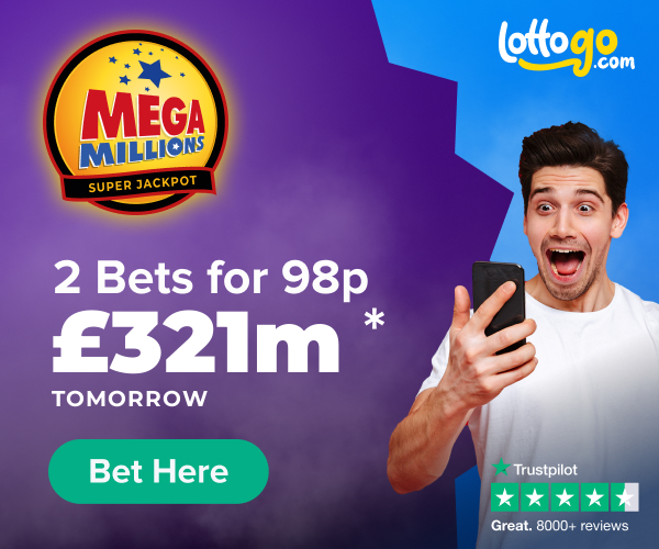 Mega Millions Bet 2 for 98p