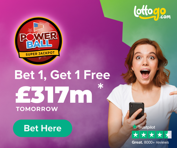 US Powerball Bet 1 Get 1 Free